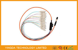 China High - density LC SC ST MT-RJ MTP MPO Cable TIA-604-5 / MTP Patch Cord factory