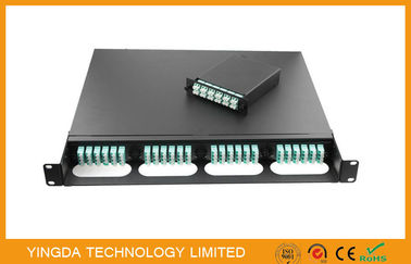 China 96 Fiber Rack MTP / MPO Cassette Management Panel , LC 12 Core Truck Cable Assembly supplier