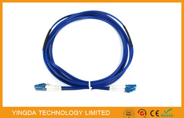 China 2 Core Steel Armored Fiber Optic Patch Cord LC , FC , SC Duplex Breakout Kits supplier