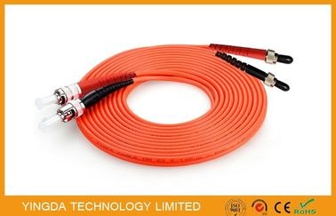 China SMA905 ST / UPC Multimode Fiber Optic Patch Cord , Mm Duplex Fiber Optic Jumper supplier