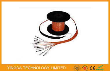 China 8 / 12 Core Pre -Terminated Fiber Optic Patch Cord Truck Cable Assembly With Pulling Eye supplier