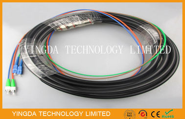 China Outdoor Telecom Waterproof Pigtail Patch Cord SC - FC / APC 2 Core 4 Core  20M supplier