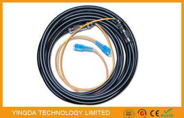 China SC FC SC ST MU MT-RJ E200 SMA Fiber Optic Pigtail Cable For TV 2 Fibers , 4 Fibers factory