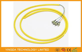 China ODF Bunchy Fiber Optic Pigtail 4 Cores LSZH 0.9MM Yellow , Single Mode Pigtail factory