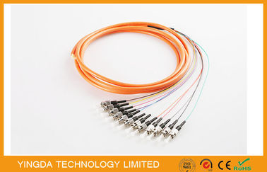 China Waterproof FC / PC Fiber Bundle Pigtail MM 50 / 125um Multimode OS1 SM MM OM1 factory