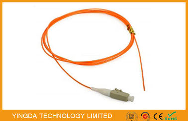 China LC / PC Fiber Optic Patch Cord Pigtail  62.5 / 125um MM , Fiber Optical LC Pigtail factory