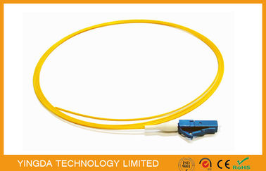 China LC SM LSZH Optical Fiber Pigtail 900um White 1.5M UPC Polish , Single Mode Fiber Pigtails supplier