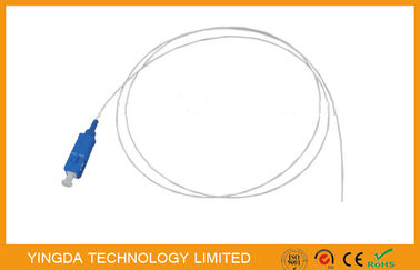 China PVC 1.5Mtrs 0.9mm SC / UPC Fiber Optic Pigtail SM Loose Buffer / Jumper Cable factory