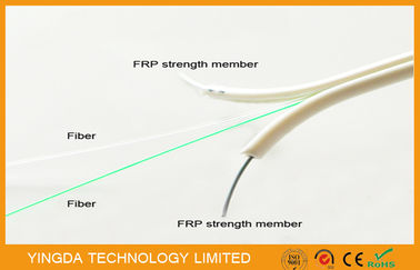 China Single Mode FTTH Drop Cable , FRP Non - Metallic Strength 2 Core Fiber Optic Cable factory