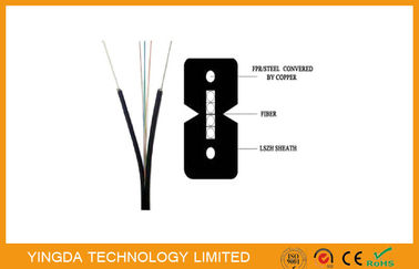 China Indoor Bow - type 4 Core fiber Optical FTTH Drop Cable Figure - 8  GJXFH 2km / Drum factory
