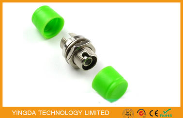 China Zinc Alloy FC Fiber Optic Adapter FC / APC Copper Coupler Green factory