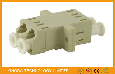China LC Multimode Fiber Optic Adapter Coupler Duplex Ceramic Ferrule , LC Fiber Adaptor factory