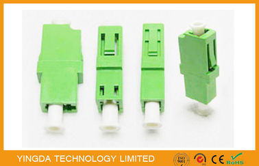 China LC / APC Simplex Green Single Mode Fiber Optic Adapter 1310nm , LC Fiber Coupler supplier