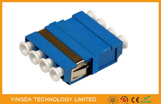 China FTTH CATV LC/PC Fiber Optic Adapter 4 Way Blue ,  SM / MM LC Optical Adapter supplier