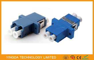 China PBT Fiber Optic Adapter LC Duplex SC Footprint Type Blue Single Mode High Density supplier