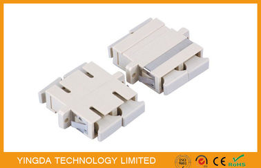 China PBT White Plastic MM DX Fiber Optic Adapter / Coupler , SC Duplex Adapter factory