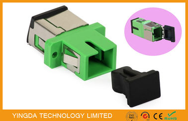 China Metal Auto Shutter SC APC Fiber Optical Adaptor Simplex Compliant with ANSI Bellcore factory