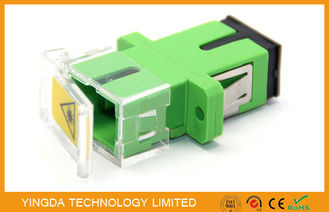 China SC Fiber Optic Shutter Adapter With Transparent Plastic , Pathcord Assembly factory
