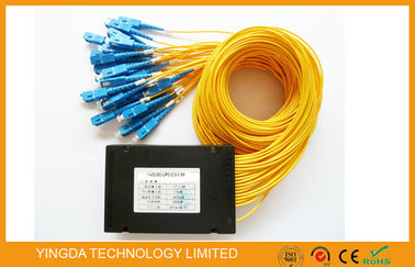 China 1*32 Passive Optical Fiber PLC Splitter Box Low Pdl , Low Insertion Loss For Fiber To Home supplier