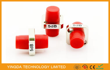 China FC / PC Female to Female Fiber Optic Coupler Flange Attenuator 5dB Single Mode factory