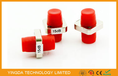 China FC SC ST Metal Adapter Type Fiber Optic Attenuator FC / PC , 15dB Attenuator supplier