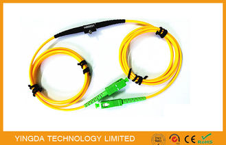 China Adjustable SC FC LC MU Fixed In - line Fiber Optic Attenuator SM 1Meter Range 1 ~ 40dB supplier
