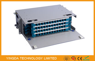 China 48 Cores Fiber Optic Patch Panel Cabinet Welding Tray 4 x 12F Rack Mounting supplier