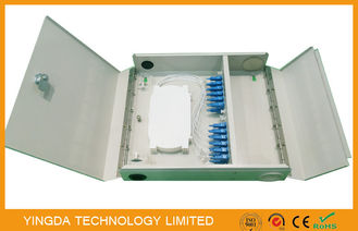 China Two Door single / multi mode Fiber Optic Termination Box Cold Rolled Steel Sheet Material supplier