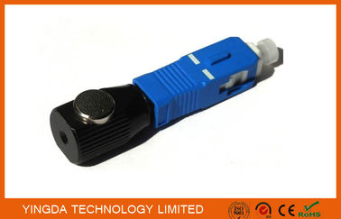 China Length 40mm Single - mode Bare Fiber Optic Adapter SC FC LC ST Metal Round factory
