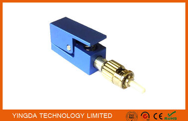 China Blue Fiber Test ST / PC Bare Fiber Optic Adapter , ST Fiber Adapter Singlemode supplier