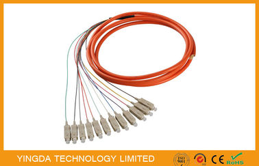 China 12 Core SC / PC Fiber Optic Pigtail MM factory