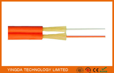 China Zipcord Duplex FTTH Drop Cable , Patch Cord SM / MM 1.6mm 2mm 3mm Yellow Orange supplier