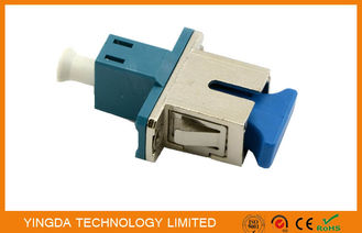 China Half Metal LC - SC Fiber Optic Adapter , Low Insertion Loss Male To Female Adapter supplier