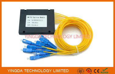 China GPON Single Mode Fiber Optic PLC Splitter 1x 8  ,  PLC Splitter Module SC 1.5M supplier