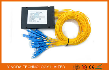 China Small FTTH Passive Fiber Optic PLC Splitter 1X16 SC SM 2.0mm High Stability supplier