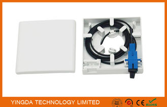 China 2 Port FTTH Indoor Fiber Optic Termination Box Socket Panel Wall Outlet 86*86*23mm supplier
