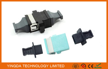 China MPO / MTP OM3 10G Fiber Optic Adapter , Coupler Black Plastic 24 Fiber SC Adapter factory