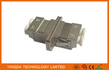 China High Return Loss Couler LC LC Duplex Optical Fiber Adapter Silver Metal Housing supplier
