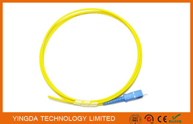 China Optical Pigtail SC UPC SM Simplex 3mm 1Meter Yellow Optical  Cable LSZH G.652D supplier
