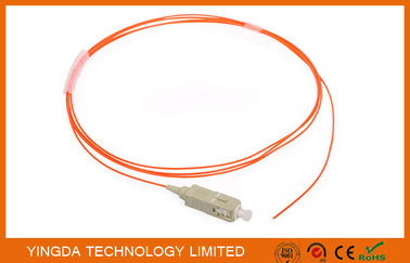China Fiber Optic Pigtail SC PC Mulitmode MM 62.5 / 125 um Simplex 0.9mm 1.5 Meter factory