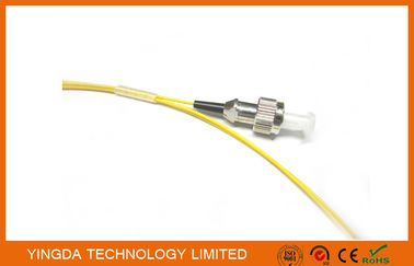 China Fiber Optic Pigtail FC singlemode 0.9mm 1meter Yellow Color Cable PVC G652D factory