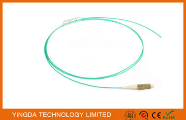 China Fiber Optic Pigtail LC OM3 10Gig. Aqua 0.9mm Simplex LSZH 1.5 M 50/125 um Mulitmode Pigtail factory