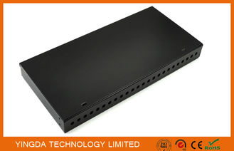 China 24 Port FC ST 19 Inch Rack Mount Patch Panel , 24 Fibers FC ODF Rack Patch Panel factory