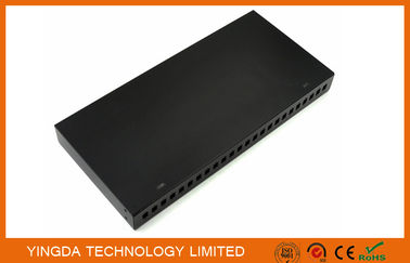"China 19"" 24 Port Rack Patch Panel , 24 Cores SC Simplex Adapter Panel Rack Mounting Black factory"