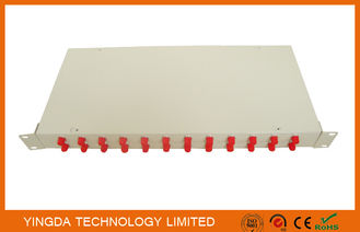 China Optical Fiber Rack Mounted ODF Patch Panel 19 Inch 24 Ports Cold Rolled Steel 1.0mm factory