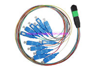 SC Hydra 12 Strand Fiber Cable Assembly / MTP MPO Patch Cord For FTTX supplier