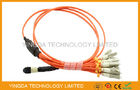 MTP to LC / SC / ST / FC Fiber Truck Cable , 12 Standard Harness Fiber Patch Cord supplier
