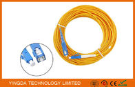 LC / SC CATV Fiber Optic Patch Cord Cable SM SX 15 Meter / Fiber Optic Assemblies supplier