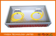 "China 2U Rack Patch Panel Metal FC ST , 48 Ports Fiber Optic Patch Panel 19"" ODF Fully Load factory"