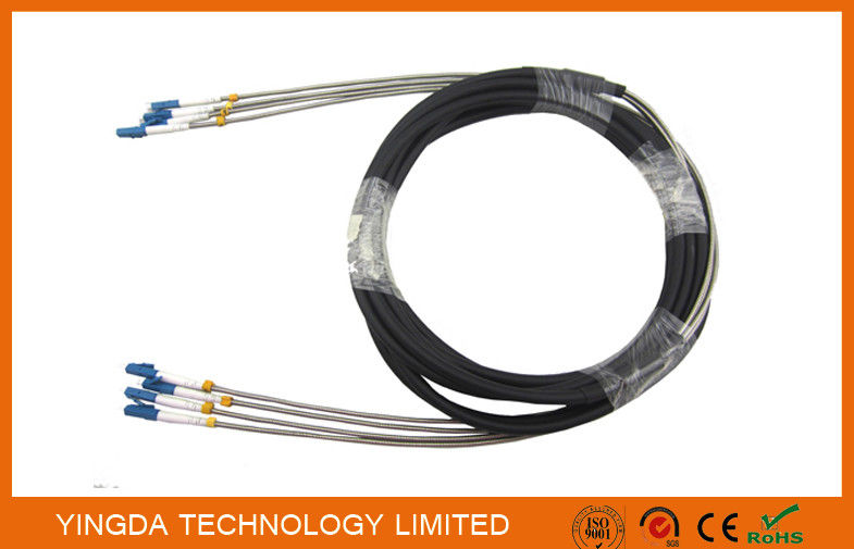DLC 4 Core Fiber Optic Cable Assembly Outdoor Waterproof FTTA Base Sation supplier